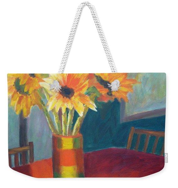 Sunflowers With Pruners  Weekender Tote Bag