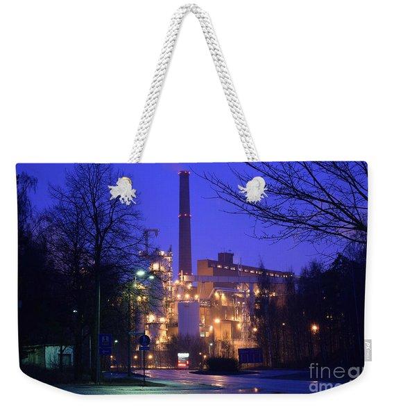 Sunila Pulp Mill By Rainy Night Weekender Tote Bag
