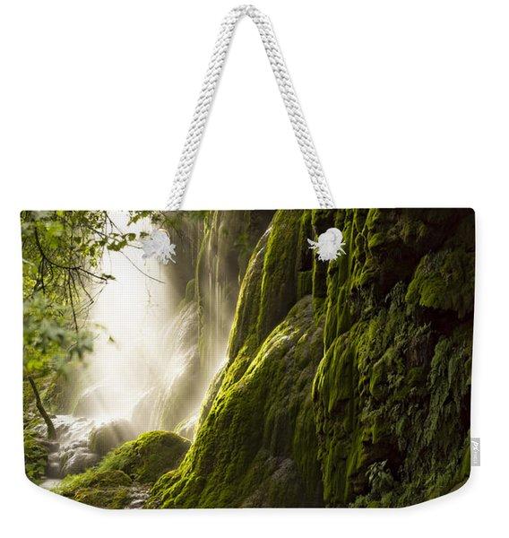 Gorman Falls Ray Of Light Weekender Tote Bag