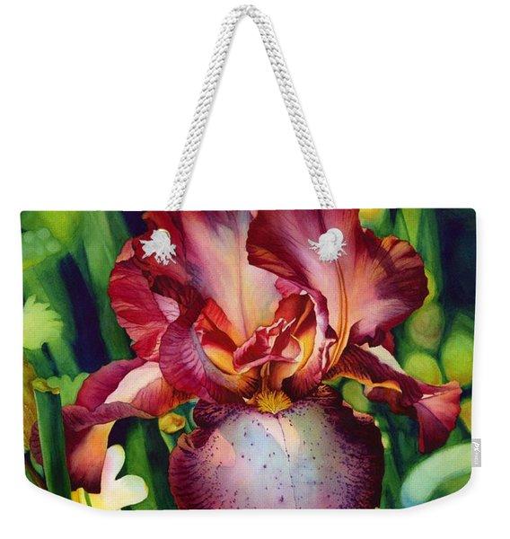 Sunlit Iris Weekender Tote Bag