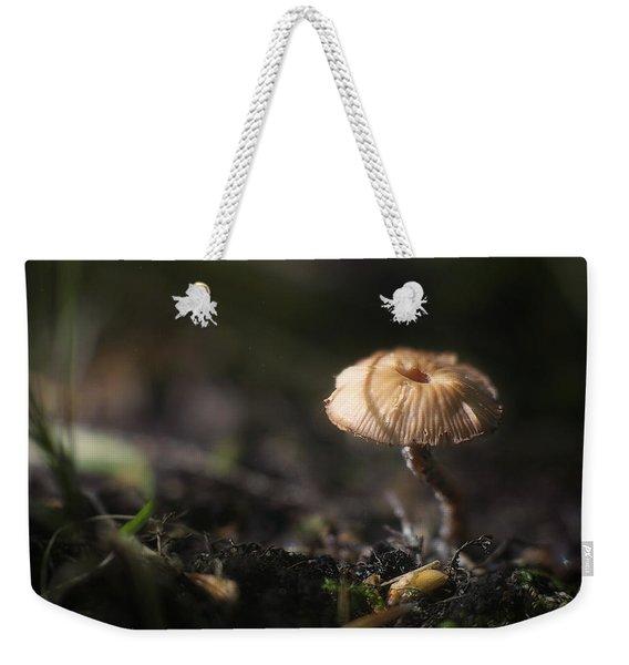 Sunlit Mushroom Weekender Tote Bag