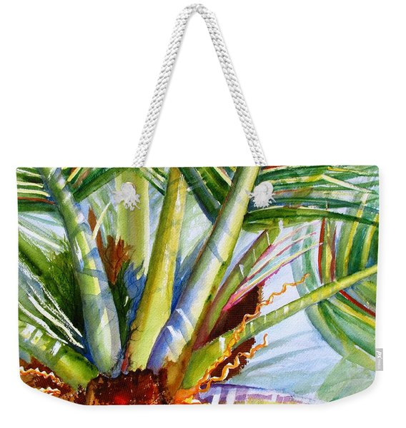 Sunlit Palm Fronds Weekender Tote Bag