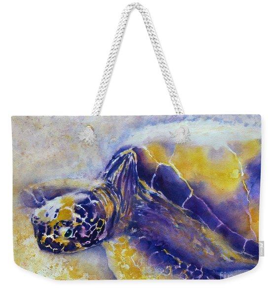 Sunning Turtle Weekender Tote Bag