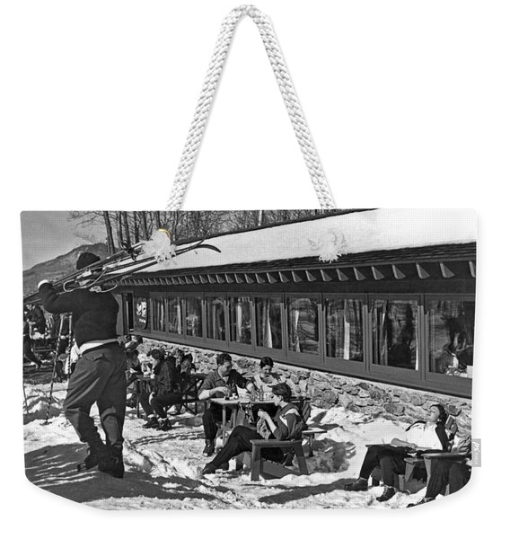 Sunny Day After Skiing Weekender Tote Bag