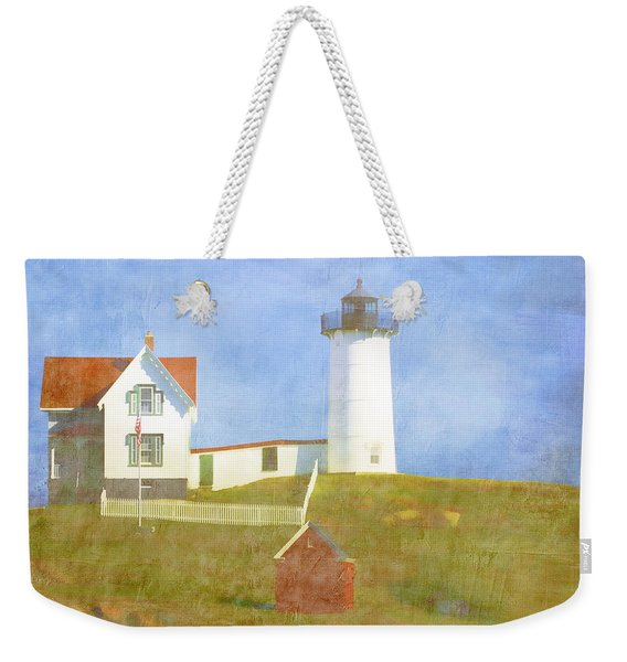 Sunny Day At Nubble Lighthouse Weekender Tote Bag