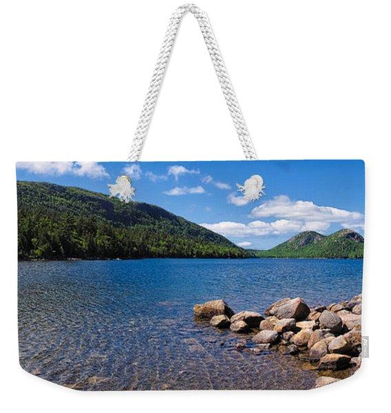 Sunny Day On Jordan Pond   Weekender Tote Bag