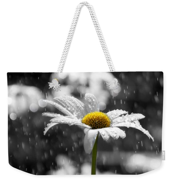 Sunny Disposition Despite Showers Weekender Tote Bag