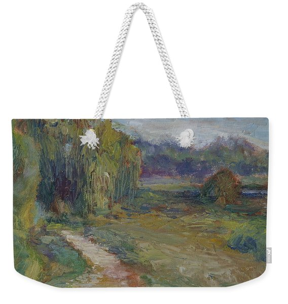 Sunny Morning In The Park -wetlands - Original - Textural Palette Knife Painting Weekender Tote Bag