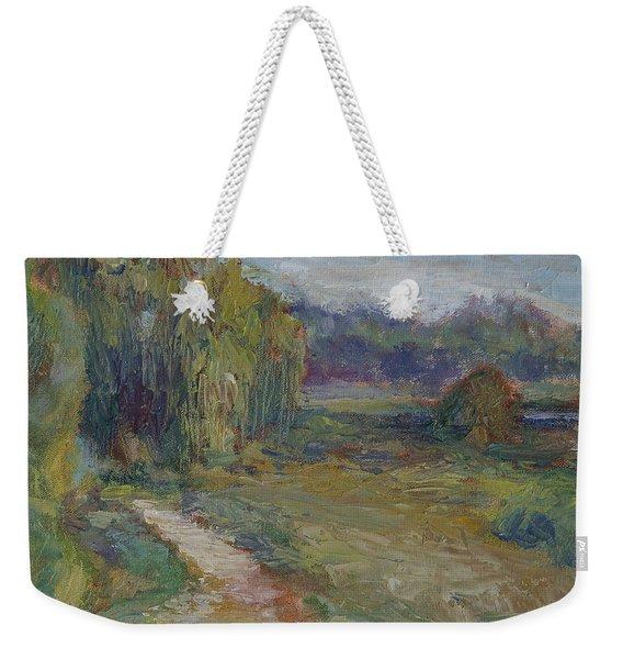 Sunny Morning In The Park -wetlands - Original - Textural Palette Knife Painting Weekender Tote Bag