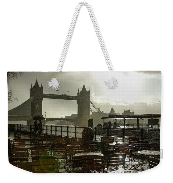 Sunny Rainstorm In London England Weekender Tote Bag