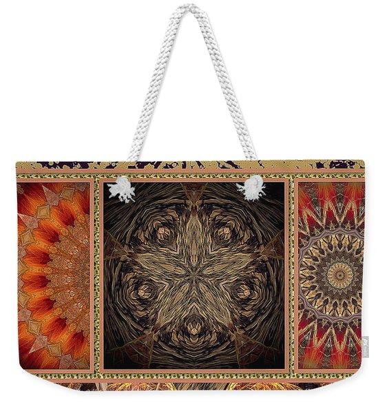 Weekender Tote Bag featuring the digital art Sunrays by Eleni Mac Synodinos