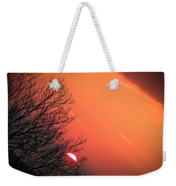Sunrise And Hibernating Tree Weekender Tote Bag