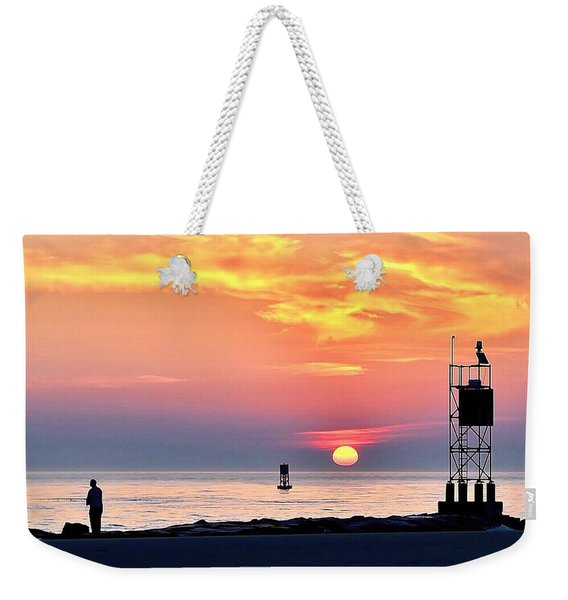 Sunrise At Indian River Inlet Weekender Tote Bag