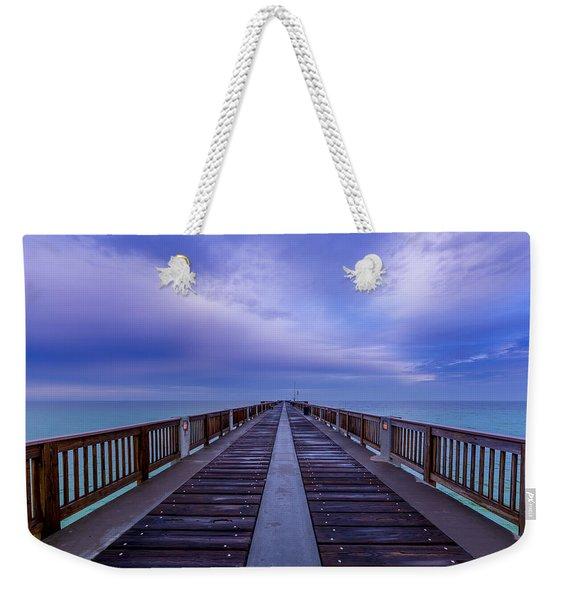 Sunrise At The Panama City Beach Pier Weekender Tote Bag