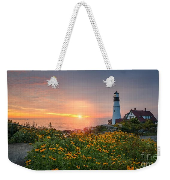 Sunrise Bliss At Portland Lighthouse Weekender Tote Bag