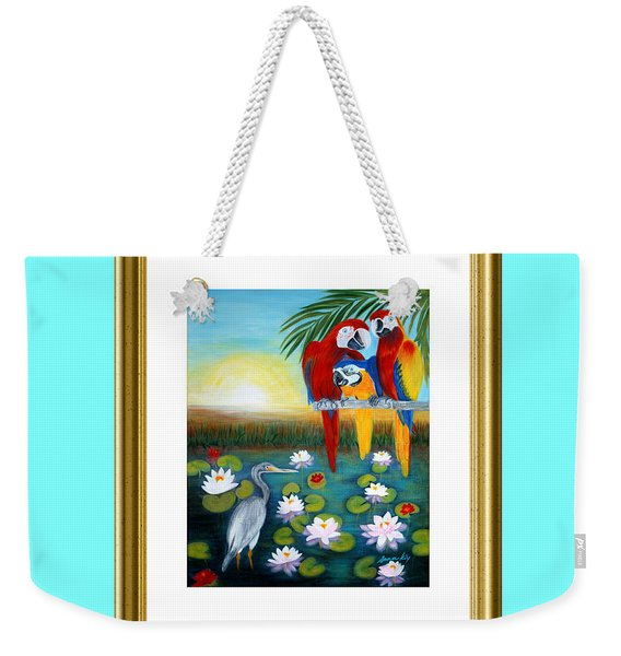 Sunrise In Paradise. Inspiration Collection Weekender Tote Bag