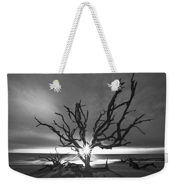 Sunrise Jewel In Black And White Weekender Tote Bag