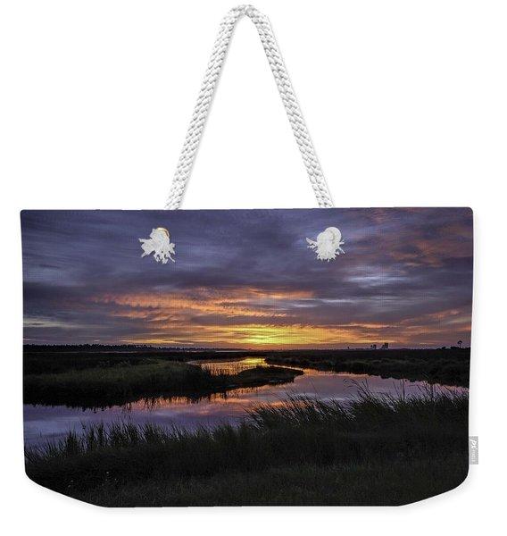 Sunrise On Lake Shelby Weekender Tote Bag