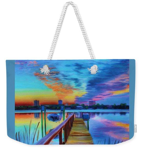 Sunrise On The Dock Weekender Tote Bag
