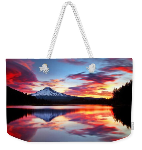 Sunrise On The Lake Weekender Tote Bag
