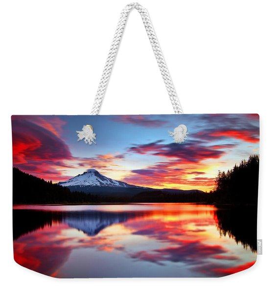 Sunrise On The Lake Weekender Tote Bag