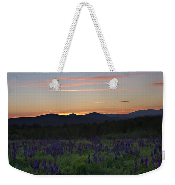 Sunrise Over A Field Of Lupines Weekender Tote Bag