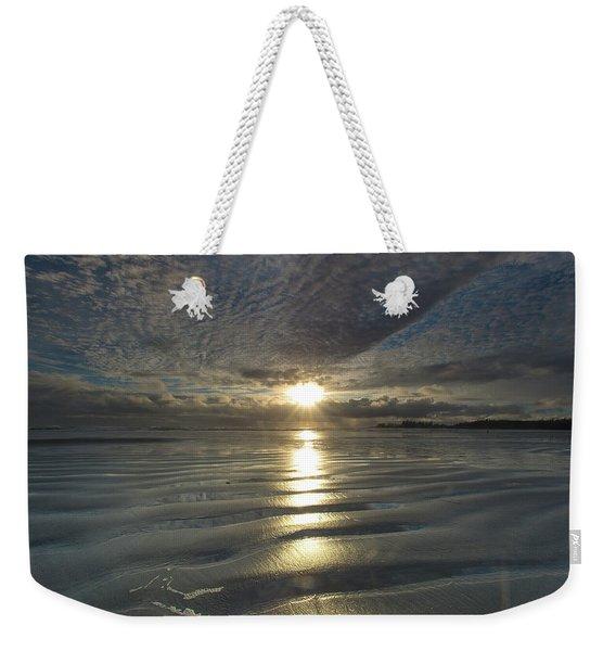 Sunrise Over Coastal Flat, Tidal Zone Weekender Tote Bag