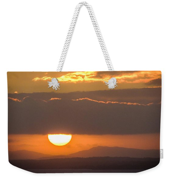 Sunrise Over River Shannon Weekender Tote Bag