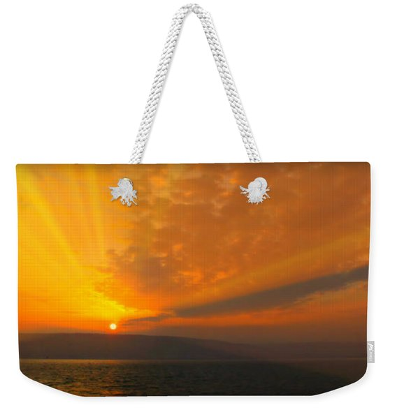 Sunrise Over The Sea Of Galilee Weekender Tote Bag
