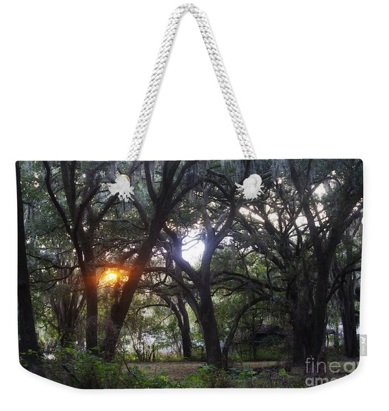 Sunrise Through The Oaks Weekender Tote Bag