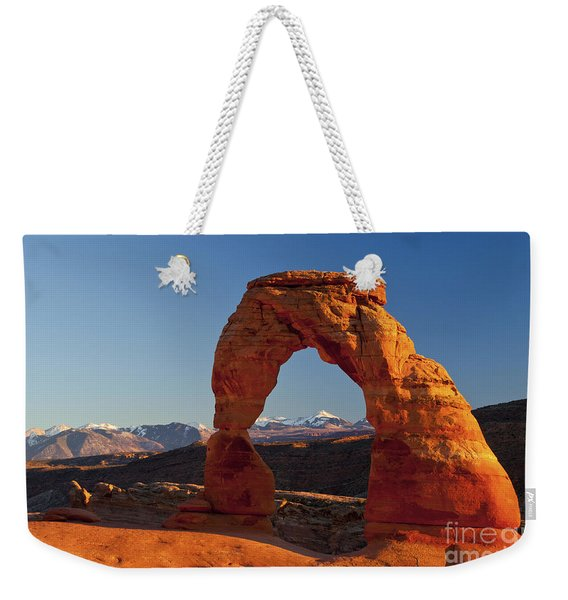 Sunset At Delicate Arch Weekender Tote Bag