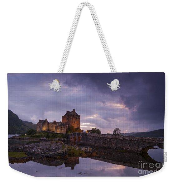 Sunset At Eilean Donan Castle Weekender Tote Bag