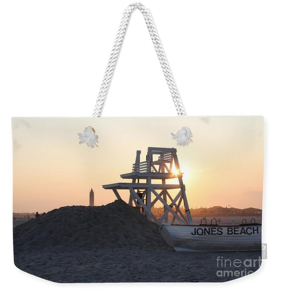 Sunset At Jones Beach Weekender Tote Bag