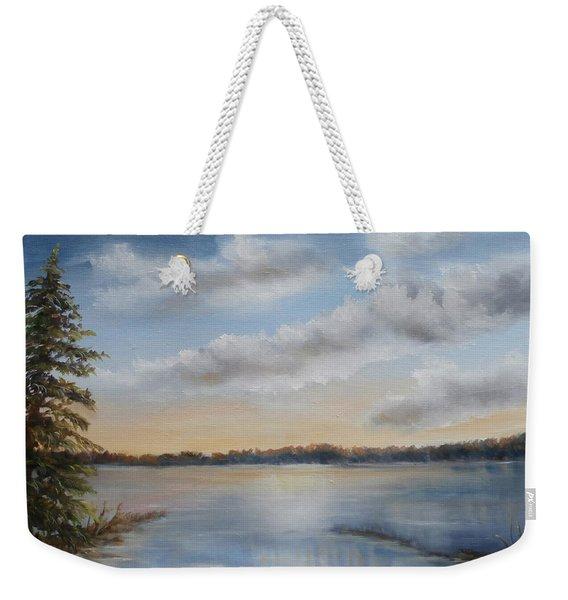 Sunset At Sparta Lake New Jersey Weekender Tote Bag