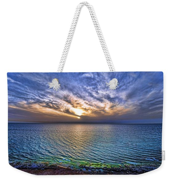 Sunset At The Cliff Beach Weekender Tote Bag