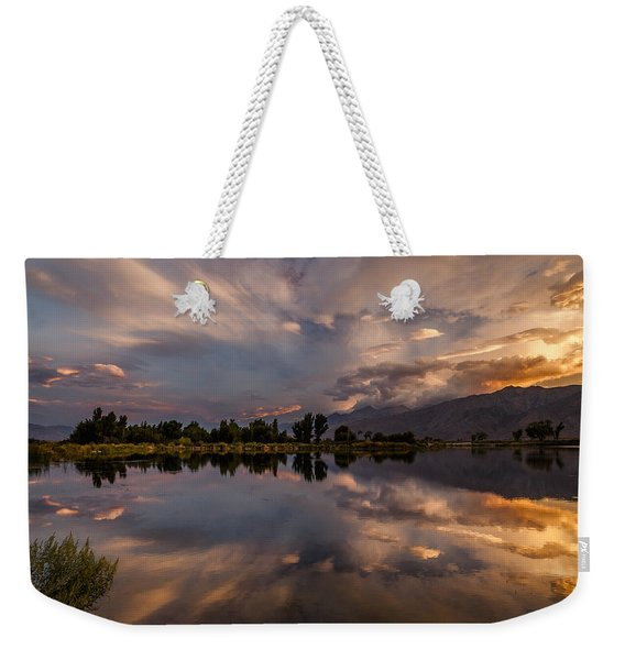 Sunset At The Pond Weekender Tote Bag