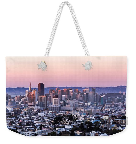 Sunset Cityscape Weekender Tote Bag