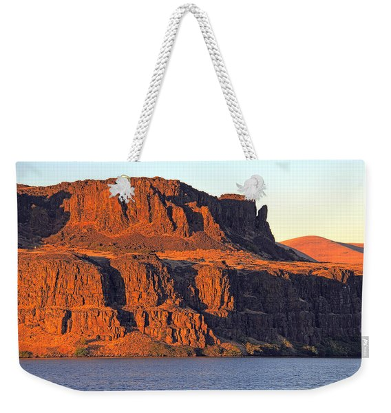 Weekender Tote Bag featuring the photograph Sunset Cliffs At Horsethief  by Talya Johnson