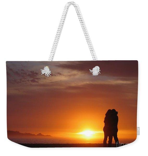 Sunset Cuddle Weekender Tote Bag