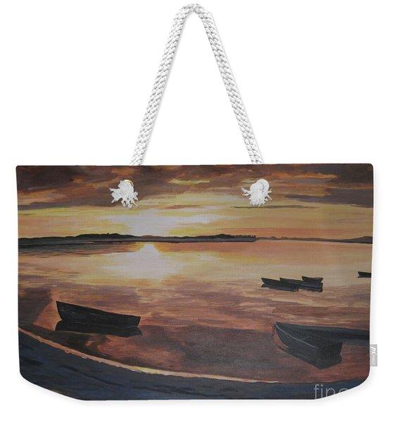 Sunset Evening Tide Weekender Tote Bag