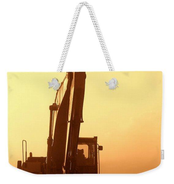 Sunset Excavator Weekender Tote Bag