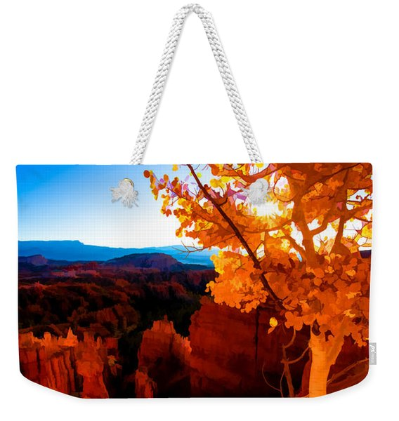 Sunset Fall Weekender Tote Bag