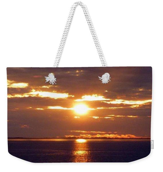 Sunset From Peace River Bridge Weekender Tote Bag