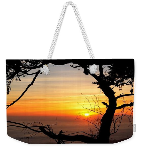Sunset In A Tree Frame Weekender Tote Bag