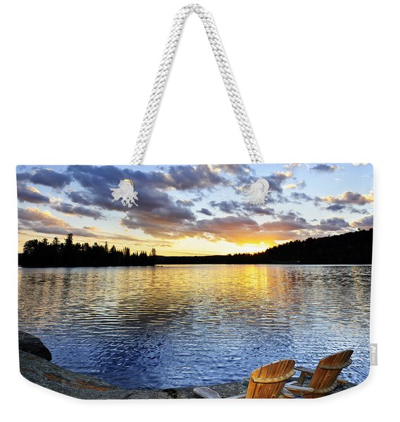 Sunset In Algonquin Park Weekender Tote Bag