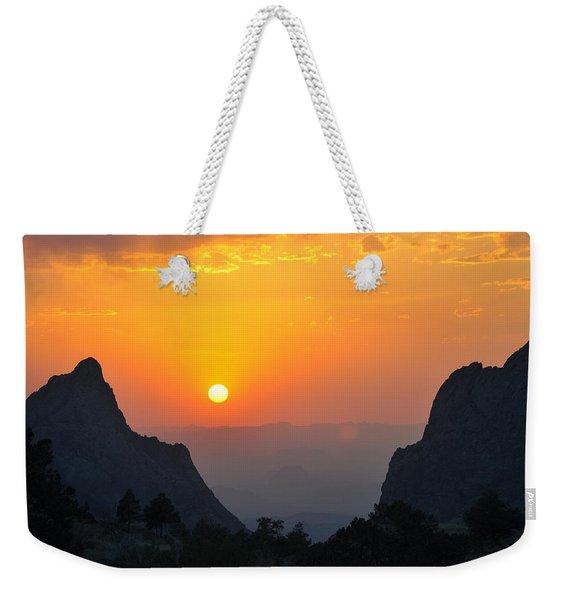 Sunset In Big Bend National Park Weekender Tote Bag