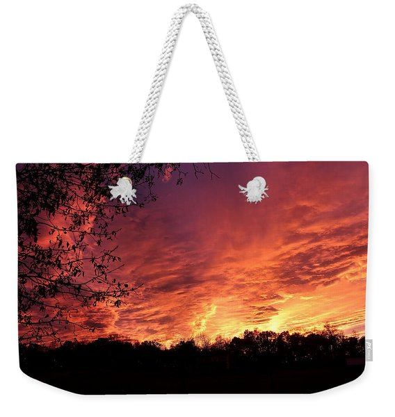 Sunset In Blue Ridge Foothills Weekender Tote Bag