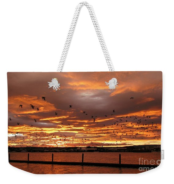 Sunset In Tauranga New Zealand Weekender Tote Bag