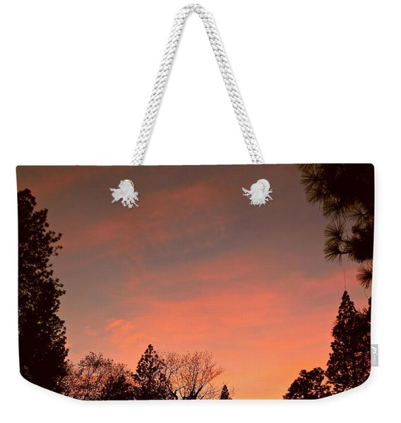 Sunset In Winter Weekender Tote Bag