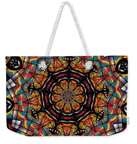 Sunset K 88 Kaleidoscope Weekender Tote Bag